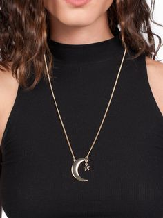 """Moon Star Necklace - Gold Soul"""