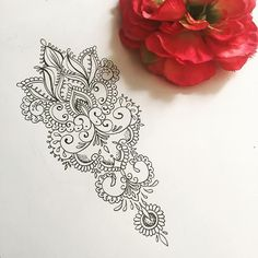 Arm/wrist piece for Yasmine #mehndi #mandala #tattoo #tattoodesign More