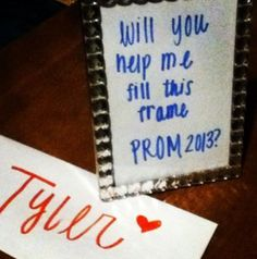 Girl asking boy to prom... Cute!