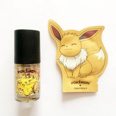 Tonymoly Pokemon Edition Pikachu Nail Polish + Eevee Hand Cream Sample #TONYMOLY