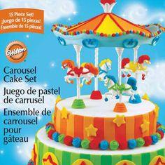Wilton CAROUSEL CAKE TOPPER SET Carnival Birthday Party $18.99 ebay