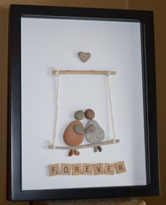 Together FOREVER Love on a swing Pebble by BeachMemoriesByJools