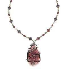 Another great find on #zulily! Purple & Amethyst Czech Crystal Wired Pendant Necklace by Merx #zulilyfinds