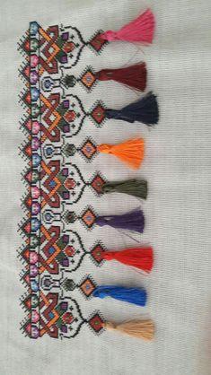 Cross Stitch Geometric, Cross Stitch Borders, Modern Cross Stitch, Cross Stitching, Cross Stitch Patterns, Embroidery Motifs, Ribbon Embroidery, Embroidery Designs, Embroidery Patterns