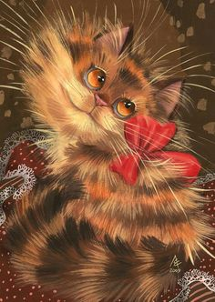 fluffy/cat/painting