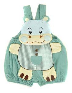 Kazoo Hipopótamo Overoles para Bebé / Kazoo Hippo Shortalls / Baby Dungarees