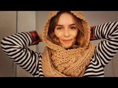 |DIY| Schal mit Kapuze stricken - Kapuzenschal - Schlauchschal - hooded scarf - YouTube