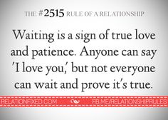 The #2515 Rule of a Relationship