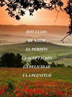 Hoy Elijo: El Amor, El Perdón,  La Aceptación, La Felicidad y La Plenitud