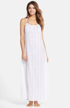 Nanette Lepore 'Calcutta' Cotton Voile Cover-Up Maxi Dress available at #Nordstrom