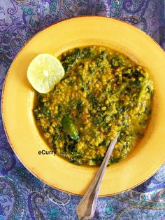 Dal Palak/Lentils with Spinach