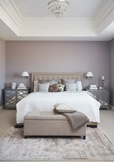 fe565095dba 25 ideas para decorar una habitación color Lila: De matrimonio, juvenil e  infantil