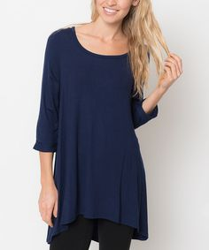 Look at this Caralase Navy Ballerina Tunic - Women on #zulily today!