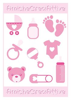 baby girl printables - AmicheCreaAttive