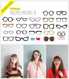 Masker / Mask: brillen in alle soorten en maten :-)    printable-glasses-for-photo-booth