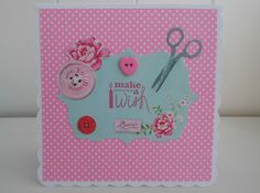 Sewing themed birthday card by picocrafts on Etsy, $3.00