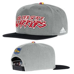 3a8d123b48a Golden State Warriors adidas Novelty Snapback Cap - Grey Red Warrior  Spirit