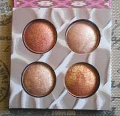 bh Cosmetics Wild & Radiant -Baked Illuminating & Bronzing Palette, omg it's like a dupe of Becca highlighter ...