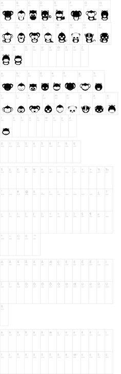 Animox dingbat font