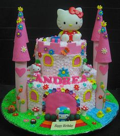 Cupcake Divinity.. Cupcakes fit for divines!: Hello Kitty castle cake