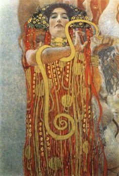 Gustav Klimt :: Hygeia, 1907   #muse #art  