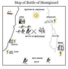 Map of the Battle of Montgisard