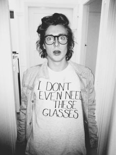 Everyone who wears fake glasses should have to wear this shirt too. That trend is pretty ridiculous.