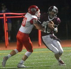 Big NFA takes on small Griswold in growing football rivalry - In the minds of Norwich Free Academy coach Jemal Davis and Griswold's Gregg Wilcox, NFA versus Griswold is the classic David versus Goliath story. Read more: http://www.norwichbulletin.com/article/20151001/SPORTS/151009918 #Sports #HSSports #Football #Griswold #Connecticut #NFA #CT