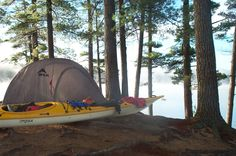 Werner Blog | Photo of the Day. That time of year. Autumn kayak camping. | Werner Paddles