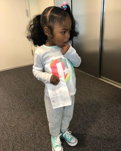 never been a morning baby 🤷🏽♀️😂 Cute Mixed Babies, Cute Black Babies, Black Baby Girls, Beautiful Black Babies, Brown Babies, Cute Baby Girl, Cute Babies, Baby Kids, Cute Hairstyles For Kids