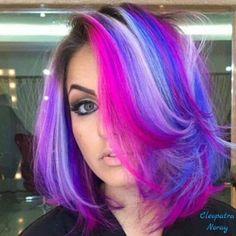 10 Amazing mermaid hair colour ideas – My hair and beauty Hair Dye Colors, Ombre Hair Color, Purple Hair, Hair Colour, Pretty Hair Color, Beautiful Hair Color, Twisted Hair, Coloured Hair, Bright Hair