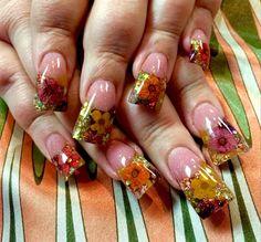 dry flowers by AGAPENAILS - Nail Art Gallery nailartgallery.nailsmag.com by Nails Magazine www.nailsmag.com #nailart