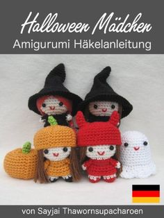 Halloween Mädchen Amigurumi Häkelanleitung (Kleine und niedliche Amigurumi 6) eBook: Sayjai, Sayjai Thawornsupacharoen: Amazon.de: Kindle-Shop