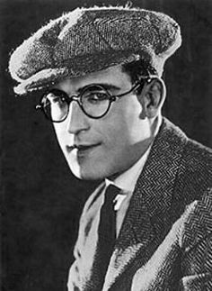 Harold Lloyd (1893 - 1971) Silent movie comedian, he was the one hanging from the hands of a clock on the side of a skyscraper in a famous scene