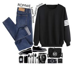 """#501"" by giulls1 ❤ liked on Polyvore featuring Cheap Monday, Love Moschino, MICHAEL Michael Kors, Casetify, canvas, Eleanor Stuart, romwe and Sweatshirt"
