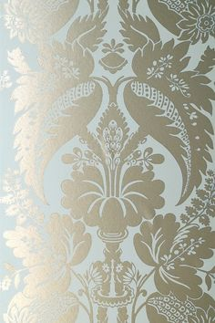 Anna French Wallpaper- just an idea?  pale blue and puta could work.