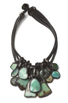 Monies chrysoprase necklace - turquoise. I cannot speak.