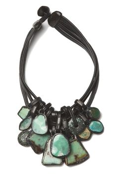 Monies: chrysoprase necklace - turquoise