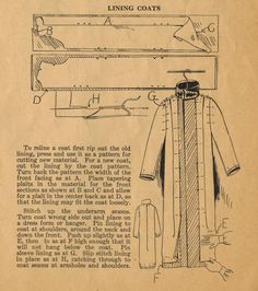 Home Sewing Tips from the 1920s - How to Line a Coat (The Midvale Cottage Post)