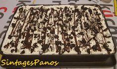 Ζαχαροπλαστική Πanos: Μπισκοτόγλυκο ψυγείου με μους μόκα και μπανάνες
