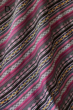 Colorful Stripy Fabric BOHO Bohemian fabric Upholstery by zoooop