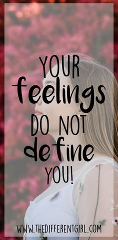 Your feelings do not define you - Quotes Christian Girls, Christian Living, Christian Faith, Girl Advice, Identity In Christ, Christian Encouragement, Meaning Of Life, Be Yourself Quotes, Type 4