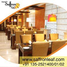 Hotel Saffron Leaf, a world class hotel in Dehradun, having a sophisticated atmosphere, along with an excellent varieties of cuisine.  For booking visit www.saffronleaf.com Call @ +911352521400/01/02/03 Email: info@saffronleaf.com