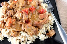Slow Cooker Gingered Pork with Orange Sauce Recipe# slow cooker healthy recipes