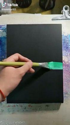 Simple Canvas Paintings, Small Canvas Art, Mini Canvas Art, Art Painting Gallery, Painting Art, Canvas Painting Tutorials, Cool Art Drawings, Acrylic Art, Watercolor Art
