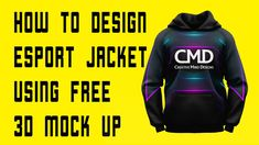 How to design esport jacket using free 3D mock up Fashion Flats, Fashion Outfits, Apparel Design, Design Tutorials, Mockup, 3 D, Street Wear, Menswear, Photoshop