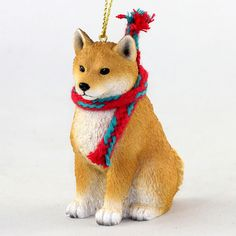Shop for this Shiba Inu dog Christmas tree ornament which is a larger version of our original dog ornaments. Ornaments measure about 3 inches in dimension and are hand painted stone resin. Large Christmas Tree, Christmas Scarf, Dog Christmas Ornaments, Christmas Dog, Shiba Inu, Pet Memorial Gifts, Dog Store, Large Dog Breeds, Gifts For Pet Lovers