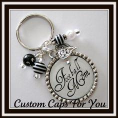 SPORTS MOM Bezel Pendant Necklace Or Key Chain by CustomCapsForYou, $12.95