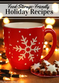 Need More Mistletoe Time? Try These Food Storage Holiday Recipes - Survival Mom Yule Decorations, Homemade Christmas Decorations, Christmas Snacks, Christmas Photos, Simple Christmas, Christmas Cookies, Christmas Diy, Merry Christmas, Emergency Preparedness Items