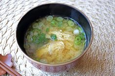 miso soup with aburaage and onion